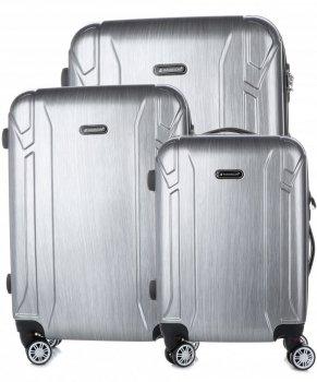 Kufry renomované firmy Madisson Sada 3v1 stříbrné