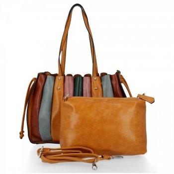 Módní Dámské Kabelky Shopper Bag s kosmetičkou David Jones Hořčičná