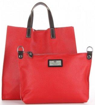 Univerzální Kožené Kabelky 2v1 ShopperBag a Listonoška Červená
