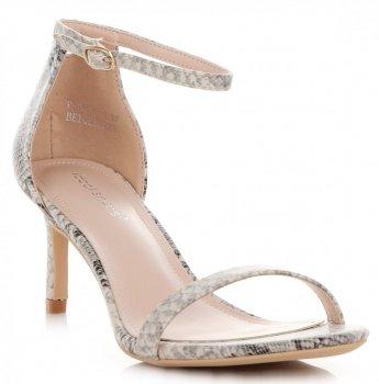 Elegantní Dámské Sandály na podpatku Ideal Shoes Béžové