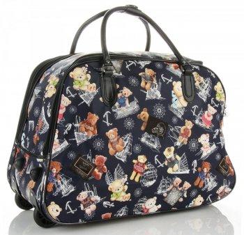 Cestovní taška na kolečkách s výsuvnou rukojetí Or&Mi Teddy Bear Tmavě Modrá