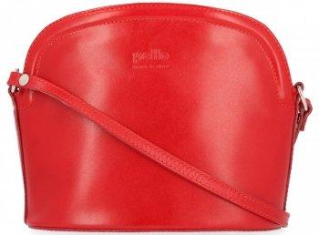 klasické kožené kabelky listonošky červená
