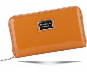 Dámská peněženka XXL Diana&Co Firenze lak hnědá