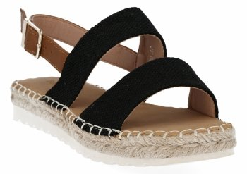 Černé dámské sandály espadrilky Bellucci