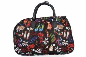 Malá Cestovní Taška Kufřík Or&Mi Shoes Multicolor - černá