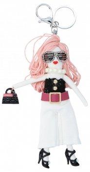 Přívěšek ke kabelce Justýnka Doll Růžová