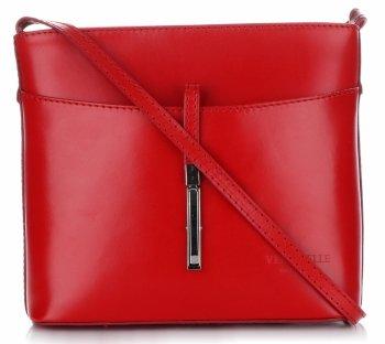 Kožená kabelka listonoška z velmi dobré kůže Červená