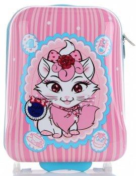 Módní Palubní kufřík pro děti Snowball Multicolor - Růžová