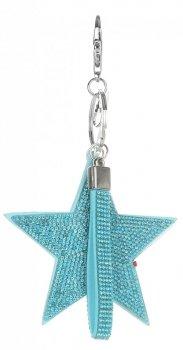 Dvoustranný Přívěšek ke kabelce Stars se zirkony mátová