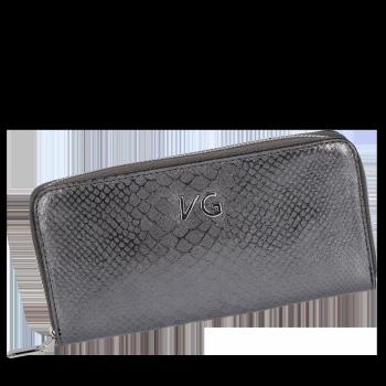 Luxusní Dámská Kožená Peněženka s motivem aligátora Vittoria Gotti Made in Italy Iron