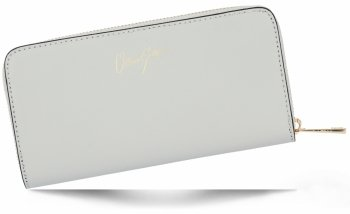 Vittoria Gotti Elegantní Dámská Kožená Peněženka Made in Italy Světle šedá