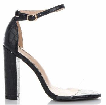 Modní Dámské Sandály na podpatku Bellucci Černé