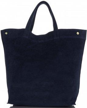 Univerzální Dámské kabelky ShopperBag XL Vera Pelle tmavě modrá