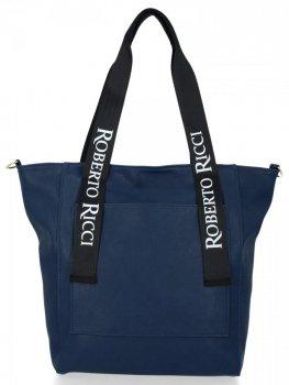Módní Dámské Kabelky Shopper XL Roberto Ricci Tmavě modrá