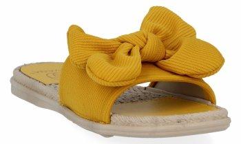 Žluté módní dámské žabky Givana