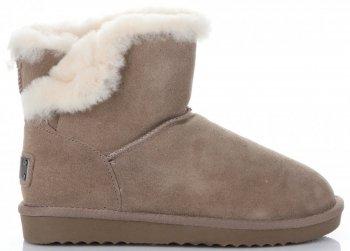 Kožené Dámské boty sněhule králík Khaki