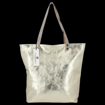 Módní Kožené Dámské Kabelky Shopper Bag Vittoria Gotti Zlatá