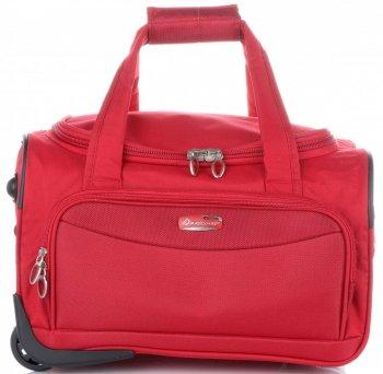 Cestovní taška na kolečkách s teleskopickou rukojetí Wizz Air Cabine značky Madisson červená