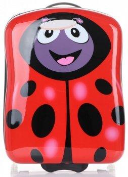 Módní Palubní kufřík pro děti slunéčko sedmitečné Madisson Multicolor - červená
