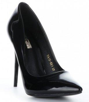 klasický dámské polobotky Bellucci lakované černé