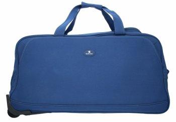 Cestovní taška na kolečkách s teleskopickou rukojetí David Jones Modrá