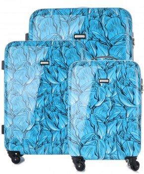 Kufry renomované firmy Madisson Sada 3v1 multicolor - modré