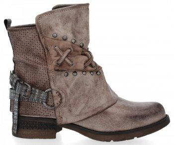 Khaki módní kotníkové boty Alex