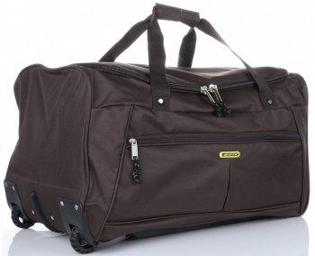 Cestovní taška na kolečkách s teleskopickou rukojetí renomované XL firmy Madisson čokoládová