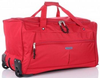 Cestovní taška na kolečkách s teleskopickou rukojetí renomované XL firmy Madisson červená