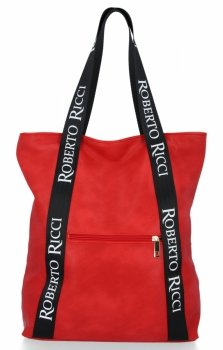 Módní Dámské Kabelky Shopper značky Roberto Ricci Červená