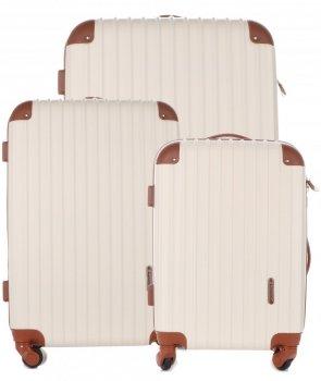 Kufry renomované firmy Madisson Sada 3v1 béžové
