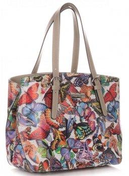 Dámská kabelka kožená kufřík VIttoria Gotti Multicolor Zemitá