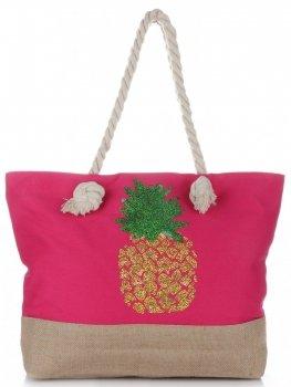 Plážová dámská kabelka Fuchsia
