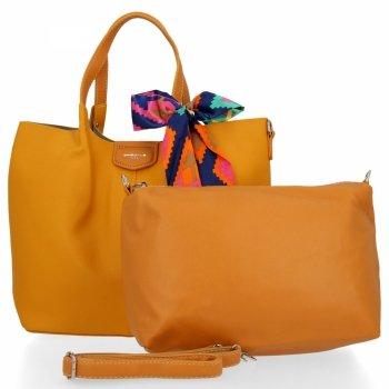 David Jones Dámské Kabelky XL Shopper Bag a Listonoška Žlutá