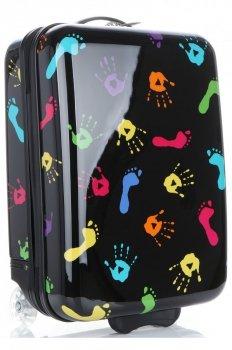 Módní Palubní kufřík nohy a ruce Snowball multicolor - černá