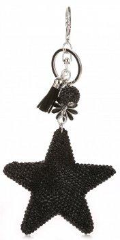 Přívěšek ke kabelce Hvězdička s křišťálky Super Star černá