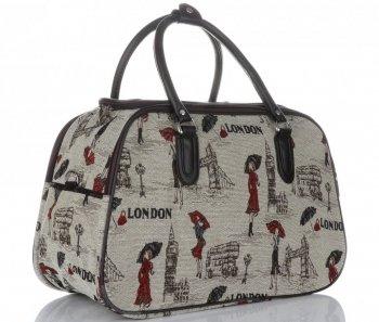 MALÁ cestovní taška kufřík Or&Mi London Multicolor - béžová
