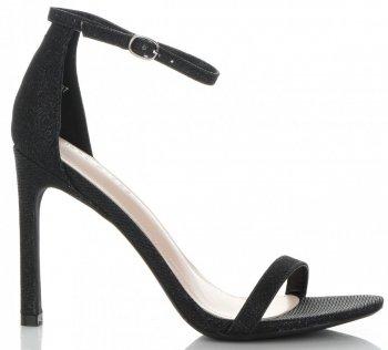Modní Dámské Sandály na podpatku Ideal Shoes Černé
