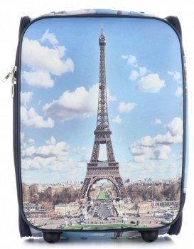 Palubní kufřík italské firmy Or&Mi 2 kolečka Multicolor Paris 3