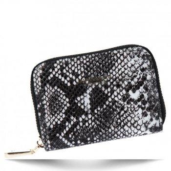 Exkluzivní Dámská Malá Peněženka hadí vzor Diana&Co Černá/Bílá