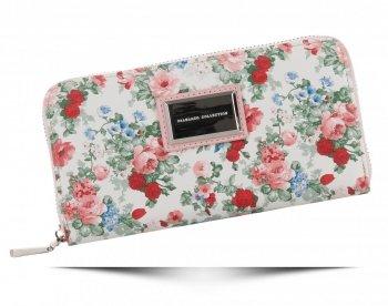 Dámská Peněženka XL Diana&Co vzorek v květinách Multicolor Prášková Růžová