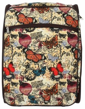 Módní Palubní Kufřík Butterfly značky Or&Mi Béžový