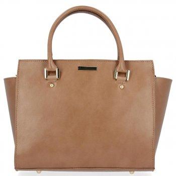 Módní kožená kabelka kufřík Zemitá
