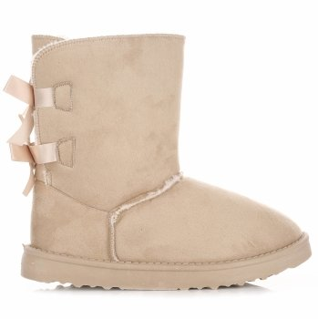 Dámské boty sněhule béžové