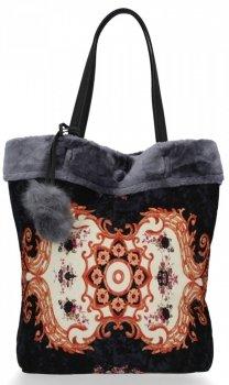 BEE BAG Torebka Damska Shopper XL Boho Style Szara