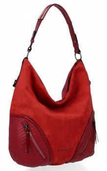 Uniwersalne Torebki Damskie XL firmy David Jones Czerwona