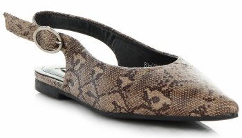 Eleganckie Sandały Damskie z zabudowanym przodem Bellucci Khaki