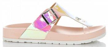 Modne Klapki Damskie z możliwością zwężenia marki Ideal Shoes Różowe
