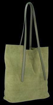 Włoskie Torebki Skórzane Uniwersalny Shopper renomowanej firmy Vittoria Gotti Zielona
