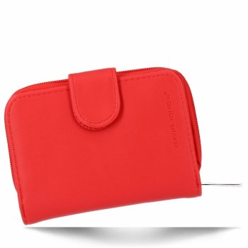 Uniwersalny Zgrabny Portfel Damski firmy David Jones Czerwony